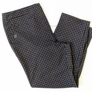 Soho checkered stretchy ankle pants XL
